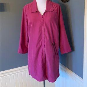 Silence+ Noise Purple Shirt Dress Small